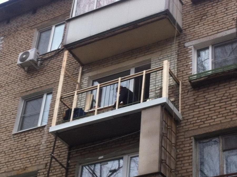 """Балкон с остеклением на красноармейском - мастерская """"дримха."""